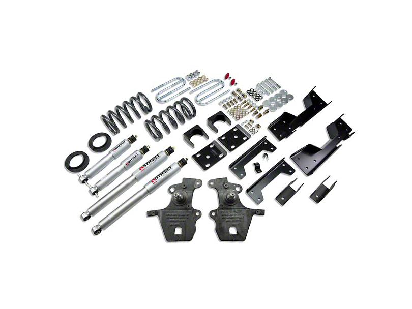 Belltech Stage 3 4 in. or 5 in. Front / 6 in. Rear Lowering Kit w/ Street Performance Shocks (01-03 2WD V8 SuperCrew, Excluding Harley Davidson)