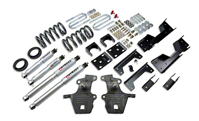 Belltech Stage 3 Lowering Kit w/ Street Performance Shocks - 4 in. or 5 in. Front / 6 in. Rear (01-03 2WD V8 SuperCrew, Excluding Harley Davidson)