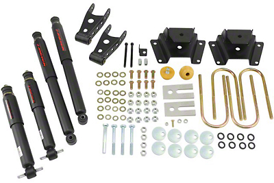Belltech Stage 2 1 in. or 2 in. Front / 3 in. Rear Lowering Kit w/ Nitro Drop 2 Shocks (00-03 Harley Davidson)