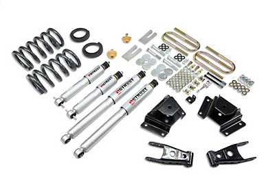 Belltech Stage 3 Lowering Kit w/ Street Performance Shocks - 1 in. or 2 in. Front / 3 in. Rear (00-03 Harley Davidson)