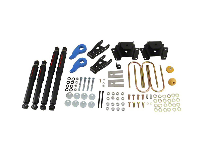 Belltech Stage 2 1 in. or 3 in. Front / 3 in. Rear Lowering Kit w/ Nitro Drop 2 Shocks (97-03 4WD)