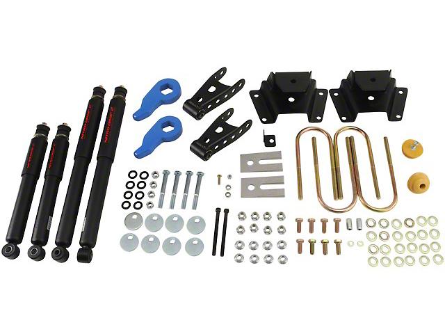 Belltech Stage 2 Lowering Kit w/ Nitro Drop 2 Shocks - 1 in. or 3 in. Front / 3 in. Rear (97-03 4WD)