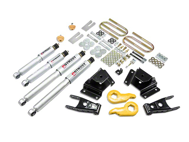 Belltech Stage 3 Lowering Kit w/ Street Performance Shocks - 1 in. or 3 in. Front / 3 in. Rear (97-03 4WD F-150)
