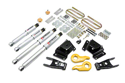 Belltech Stage 3 Lowering Kit w/ Street Performance Shocks - 1 in. or 3 in. Front / 3 in. Rear (97-03 4WD)