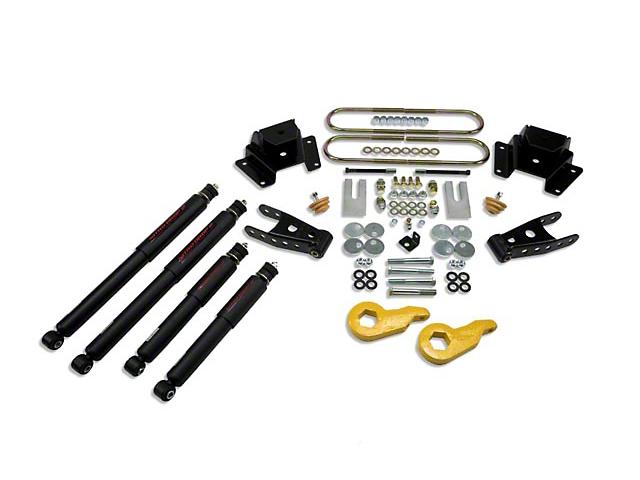 Belltech Stage 2 1 in. or 3 in. Front / 4in. Rear Lowering Kit w/ Nitro Drop 2 Shocks (97-03 4WD)