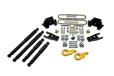 Belltech Stage 2 1 in. or 3 in. Front / 4in. Rear Lowering Kit w/ Nitro Drop 2 Shocks (97-03 4WD)