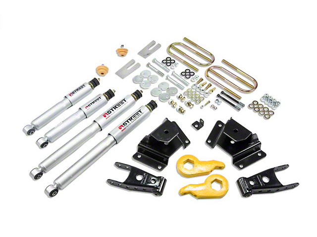 Belltech Stage 3 1 in. or 3 in. Front / 4in. Rear Lowering Kit w/ Street Performance Shocks (97-03 4WD)