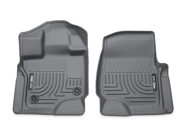 Husky WeatherBeater Front Floor Liners - Gray (15-17 SuperCab, SuperCrew)