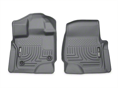 Husky WeatherBeater Front Floor Mats - Gray (15-19 F-150 SuperCab, SuperCrew)