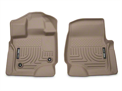 Husky WeatherBeater Front Floor Liners - Tan (15-17 SuperCab, SuperCrew)