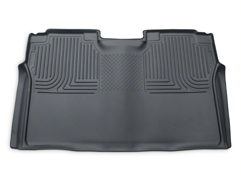 Husky WeatherBeater 2nd Seat Floor Liner - Full Coverage - Gray (15-17 SuperCrew)