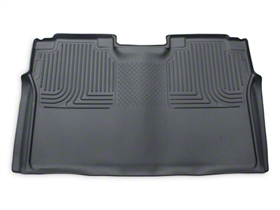 Husky WeatherBeater 2nd Seat Floor Liner - Full Coverage - Gray (15-18 F-150 SuperCrew)