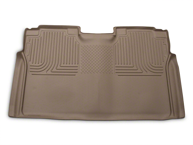 Husky WeatherBeater 2nd Seat Floor Liner - Full Coverage - Tan (15-18 SuperCrew)