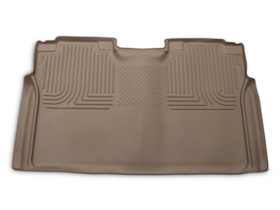 Husky WeatherBeater 2nd Seat Floor Liner - Full Coverage - Tan (15-18 F-150 SuperCrew)