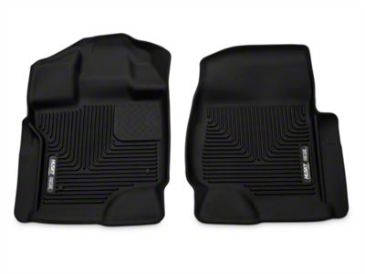 Add Husky X-Act Contour Front Floor Liners - Black (15-17 SuperCab, SuperCrew)