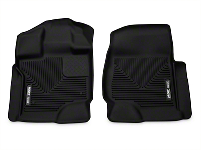 Husky X-Act Contour Front Floor Liners - Black (15-18 F-150 SuperCab, SuperCrew)
