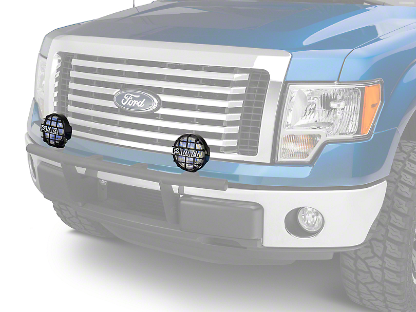 PIAA 540 Series 5 in. Round Ion Yellow Halogen Lights - Fog Beam - Pair (97-18 F-150)