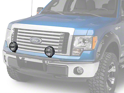 Delta 6 in. 100 Series Black Thinline Fog Light Kit - 55 Watt Xenon - Pair (97-18 All)