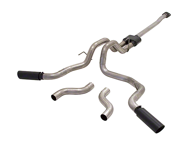 Flowmaster Outlaw Cat-Back Exhaust w/ Black Tips - Split Side/Rear Exit (15-17 3.5L V6)