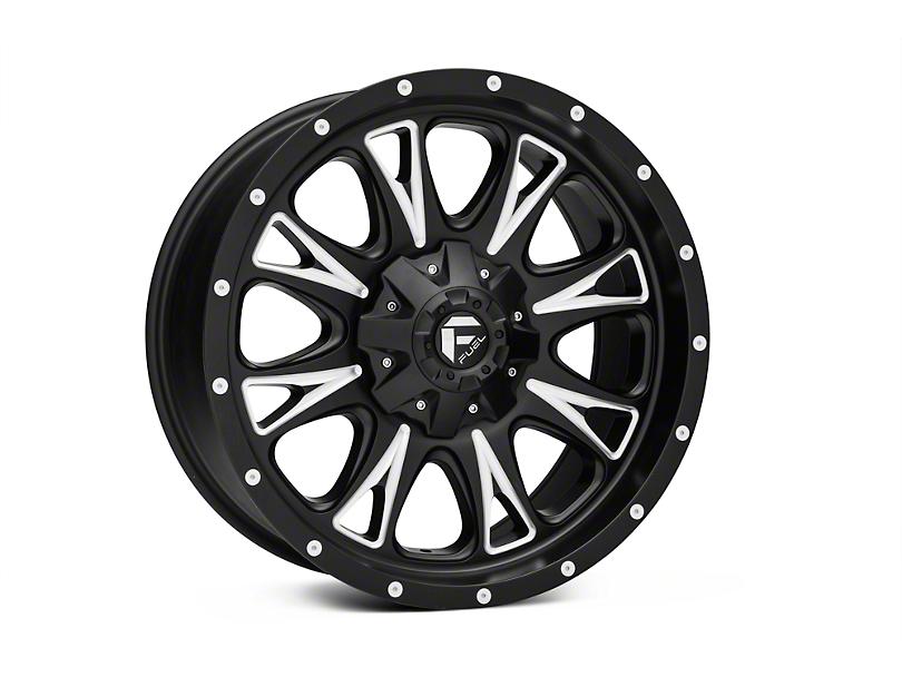Fuel Wheels Throttle Black Milled 6-Lug Wheel - 20x9 (04-18 F-150)