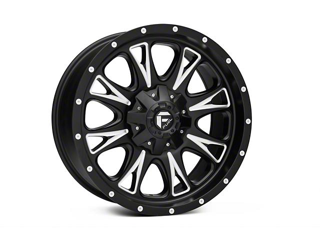 Fuel Wheels Throttle Black Milled 6-Lug Wheel - 20x9 (04-18 All)