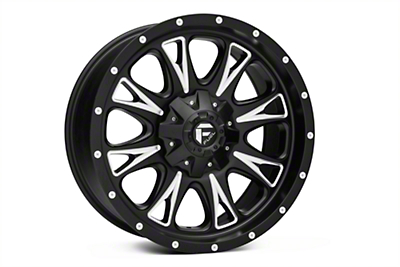 Fuel Wheels Throttle Black Milled 6-Lug Wheel - 20x9 (04-18 All)
