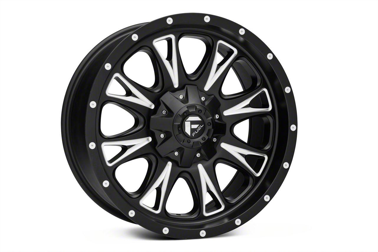 Fuel Throttle Black Machined Wheel 20x10