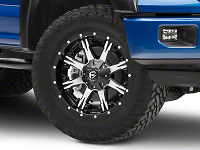 Fuel Wheels Nutz Black Machined 6-Lug Wheel - 20x9 (04-18 F-150)