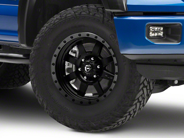Fuel Wheels Trophy Matte Black w/ Anthracite Ring 6-Lug Wheel - 18x9 (15-19 F-150)