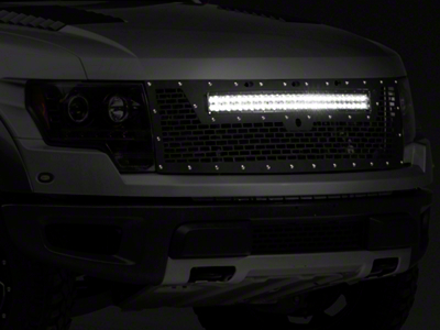 Rigid Industries Upper Replacement Grille w/ 30 in. RDS-Series LED Light Bar - w/ Front Camera Hole (10-14 Raptor)