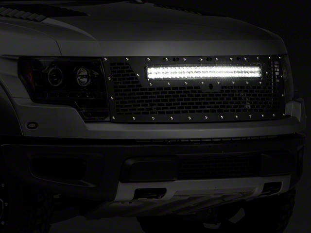 Rigid Industries Upper Replacement Grille w/ 30 in. RDS-Series LED Light Bar - w/o Front Camera Hole (10-14 Raptor)