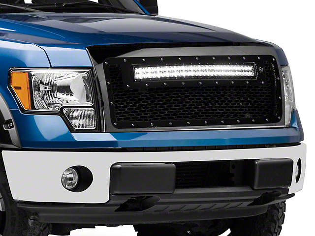 Rigid Industries Upper Grille Insert w/ 30 in. RDS-Series LED Light Bar - Black (13-14 All, Excluding Raptor)