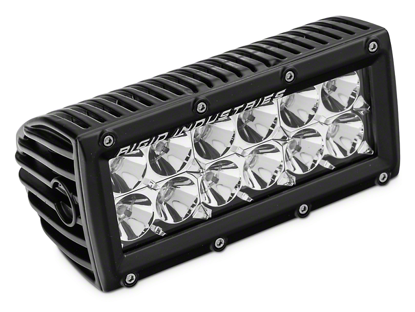 Rigid Industries 6 in. E Series LED Light Bar - Flood Beam (97-18 All)