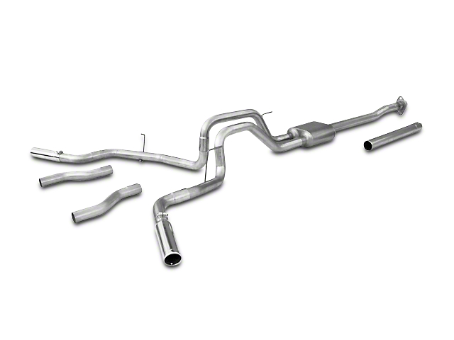 Flowmaster American Thunder Stainless Steel Dual Exhaust System - Side/Rear Exit (09-10 4.6L F-150)