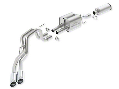 Ford Performance by Borla Touring Cat-Back Exhaust w/ Chrome Tips - Dual Side Exit (11-14 6.2L Raptor)