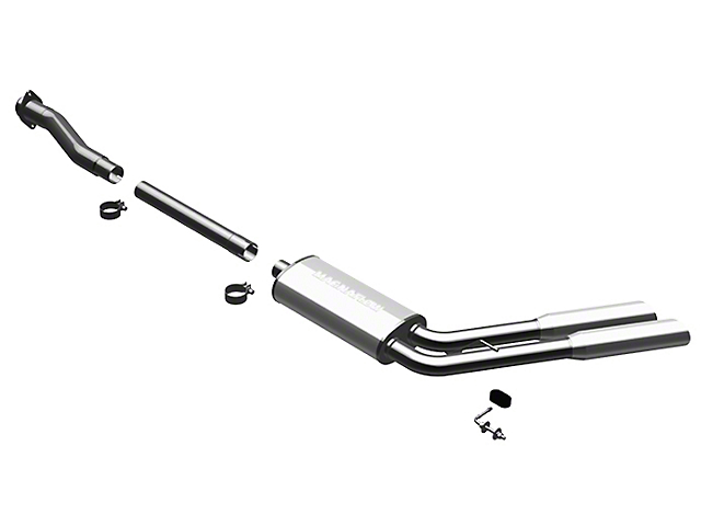 Magnaflow MF Series Cat-Back Exhaust - Dual Side Exit - Before Rear Tire (11-14 6.2L, Excluding Raptor)