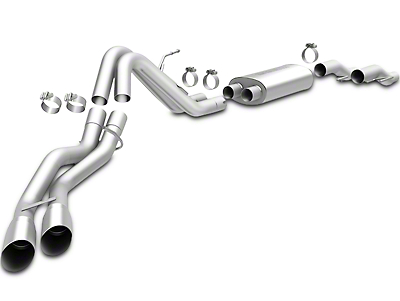 Magnaflow MF Series Dual Exhaust System - Same Side Exit - After Rear Tire (11-14 6.2L, Excluding Raptor)