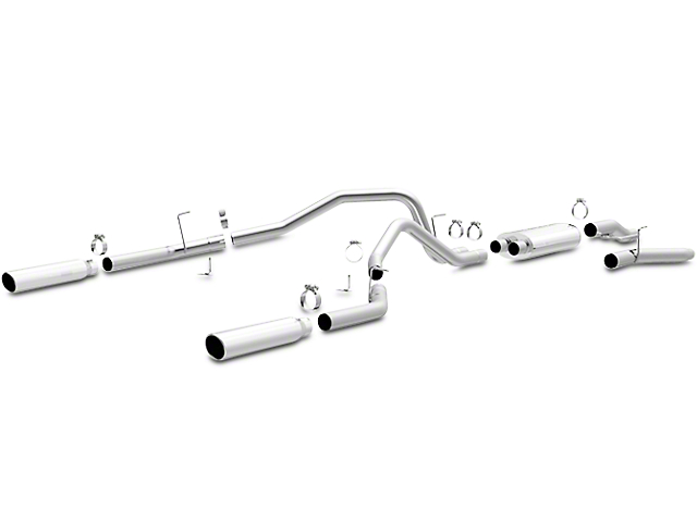 Magnaflow MF Series Dual Exhaust System - Rear Exit (09-10 5.4L F-150, Excluding Raptor)