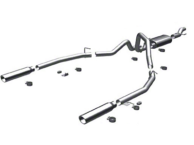 Magnaflow MF Series Cat-Back Exhaust - Split Rear Exit (11-14 3.5L EcoBoost)