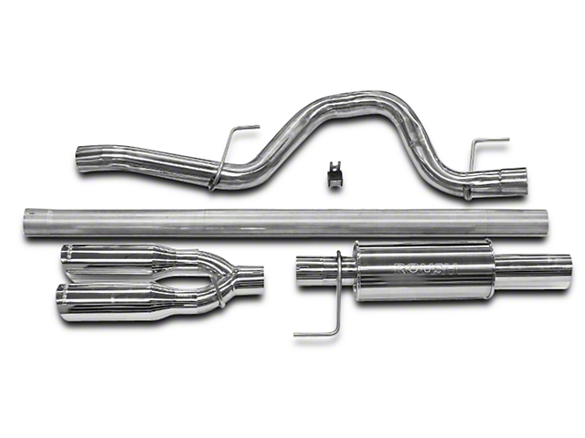 Roush Performance 3 in. Single Exhaust System w/ Y-Pipe Tip - Rear Exit (11-14 3.5L EcoBoost F-150)