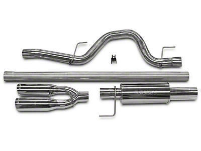 Roush Performance 3 in. Single Exhaust System w/ Y-Pipe Tip - Rear Exit (11-14 6.2L, Excluding Raptor)