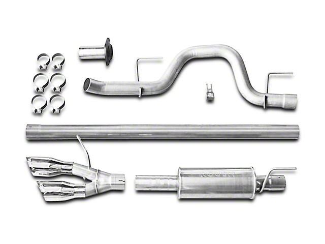 Roush Performance 3 in. Cat-Back Exhaust w/ Y-Pipe Tip - Single Side Exit (11-14 3.5L EcoBoost)