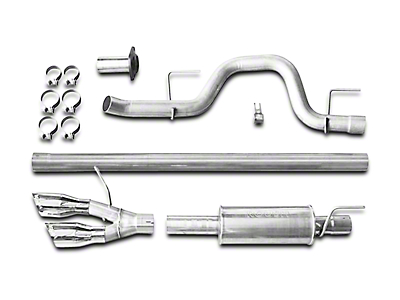 Roush Performance 3 in. Single Exhaust System w/ Y-Pipe Tip - Side Exit (11-14 3.5L EcoBoost F-150)
