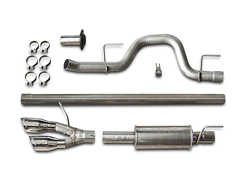 Roush Single Exhaust System w/ Polished Y-Pipe Tip - Side Exit (11-14 5.0L F-150)