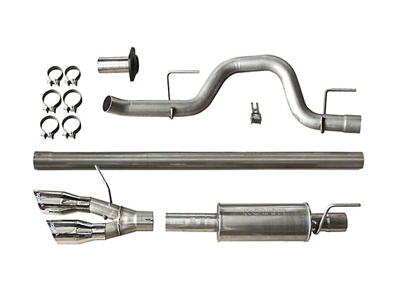 Roush Single Exhaust System w/ Polished Y-Pipe Tip - Side Exit (10-14 6.2L F-150 Raptor)