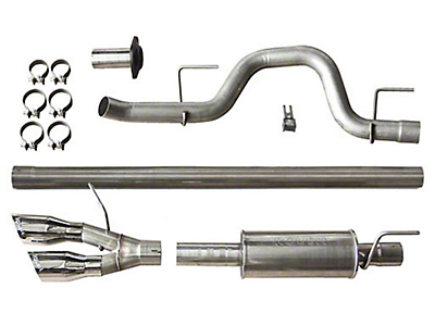 Roush Performance 3 in. Single Exhaust System w/ Y-Pipe Tip - Side Exit (10-14 6.2L F-150 Raptor)