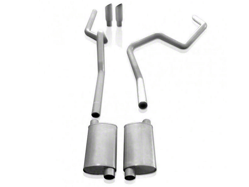 Stainless Works 2.5 in. Turbo Chambered Cat-Back Exhaust - Split Rear Exit - Performance Connect (09-10 5.4L, Excluding Raptor)
