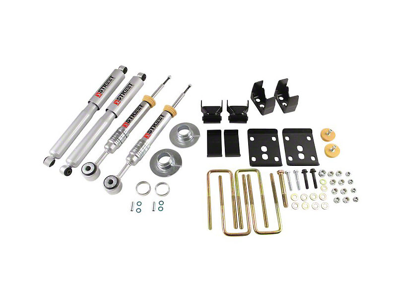 Belltech Stage 3 Lowering Kit w/ Street Performance Shocks - +1 in. to - 3 in. Front / 5.5 in. Rear (09-13 2WD w/ Short Bed)
