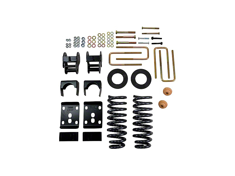 Belltech Stage 3 2 in. or 3 in. Front / 4 in. Rear Lowering Kit w/ Street Performance Shocks (09-13 2WD w/ Short Bed)