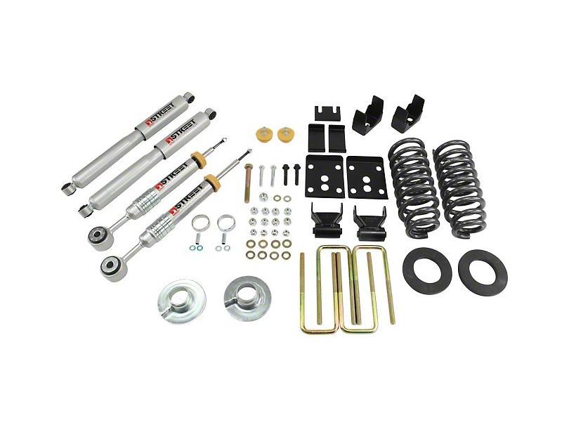 Belltech Stage 3 Lowering Kit w/ Street Performance Shocks - 2 in. or 3 in. Front / 5.5 in. Rear (09-13 2WD w/ Short Bed)